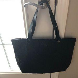 Handbags - NWT... TOTE  IN VEGAN MATERIAL - black